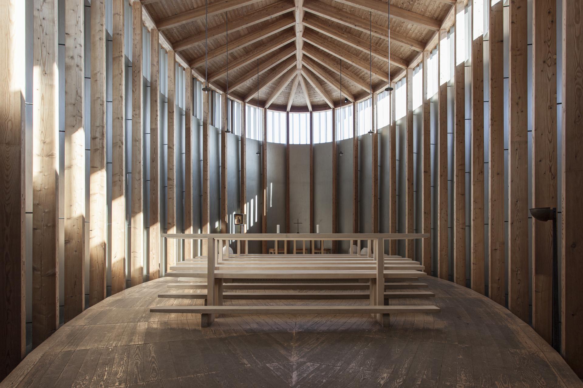 Saint Benedict Chapel / Peter Zumthor, Foto Alberto Canepa - www.albertocanepa.com