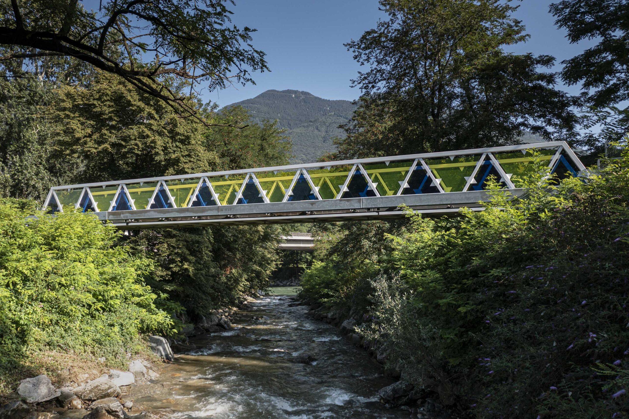 Passerella sul fiume Morobbia, Enrico Sassi Architetto, foto Alberto Canepa