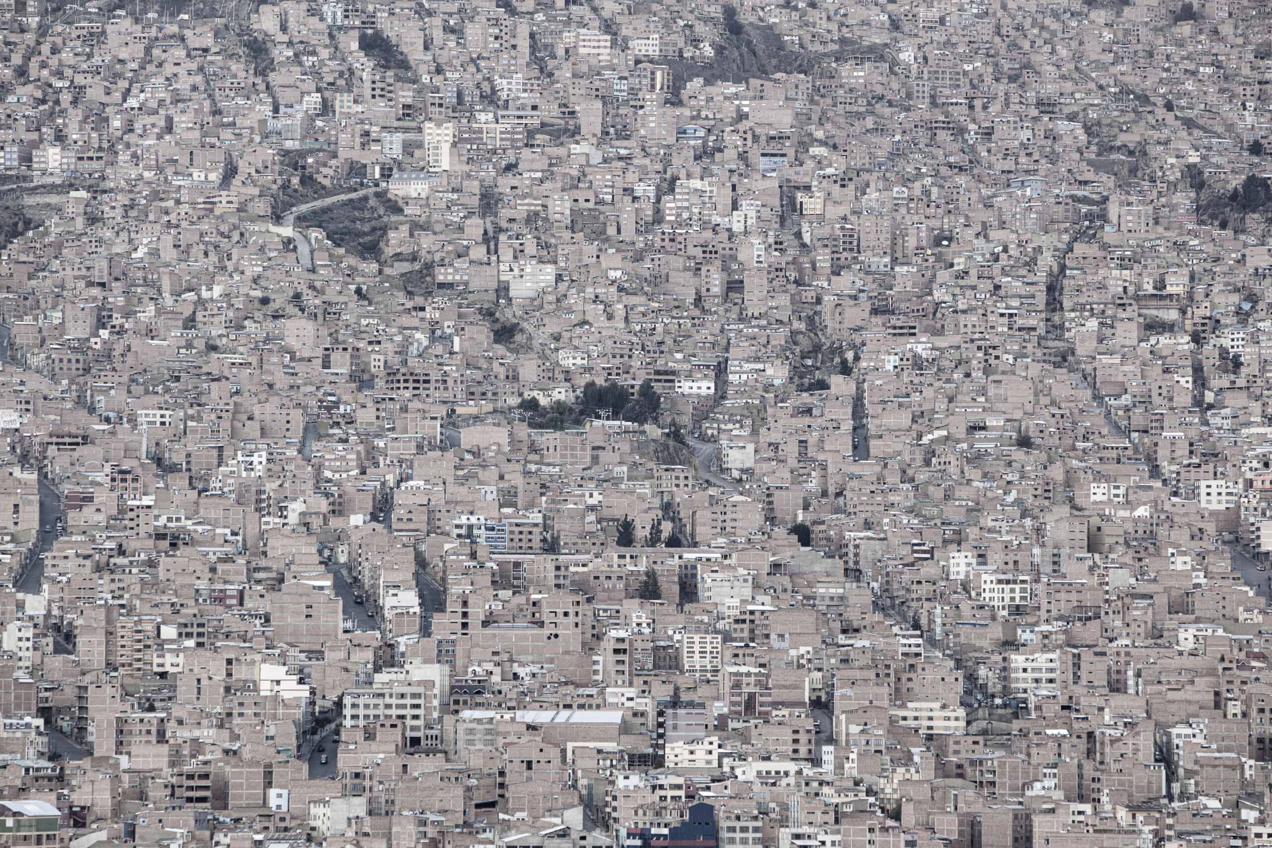 Citta compresse, La Paz, Bolivia, foto Alberto Canepa